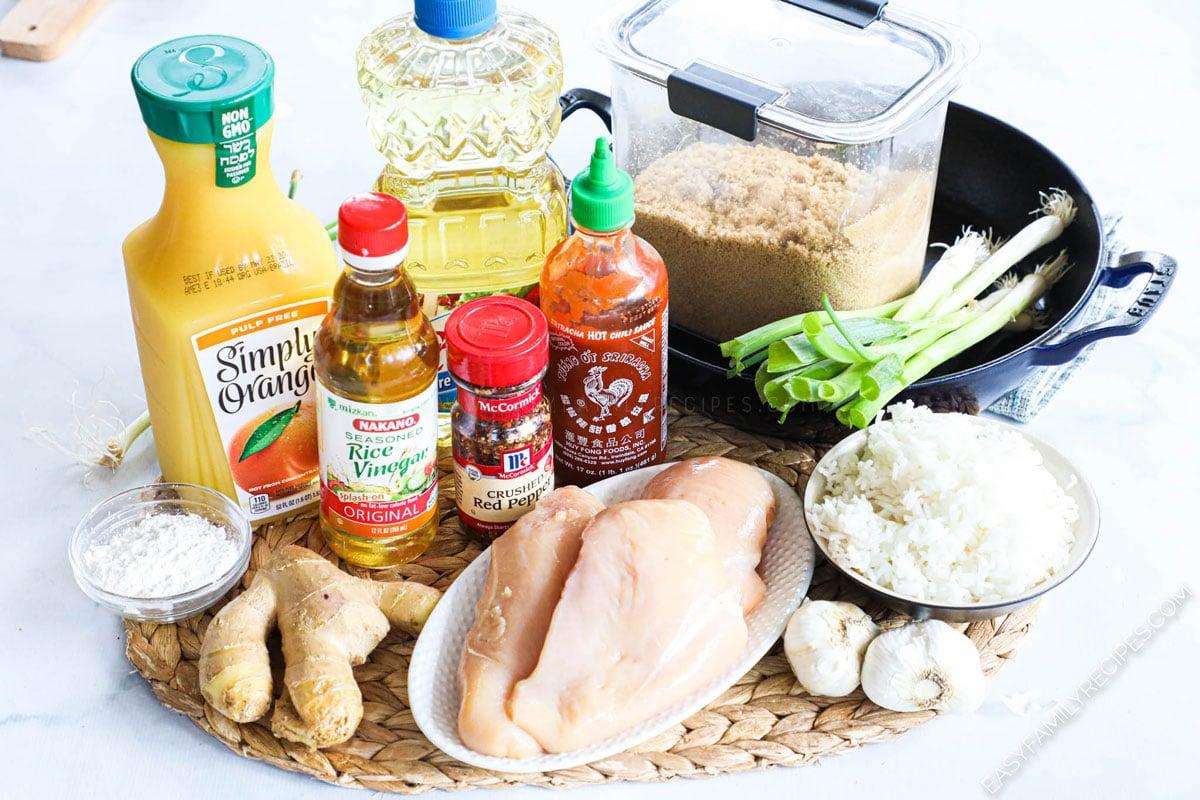 Ingredients for Firecracker Chicken