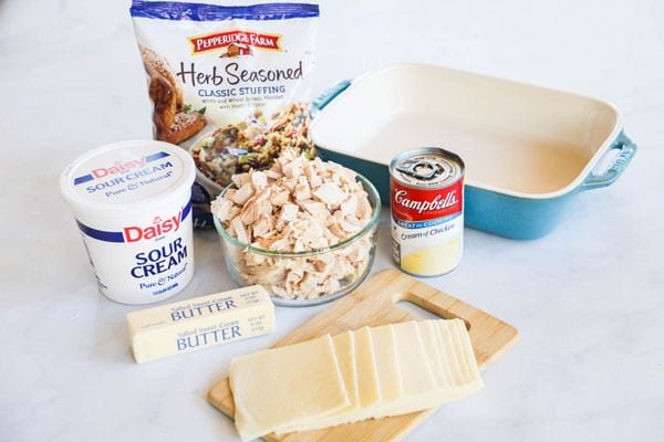 Ingredients for swiss chicken