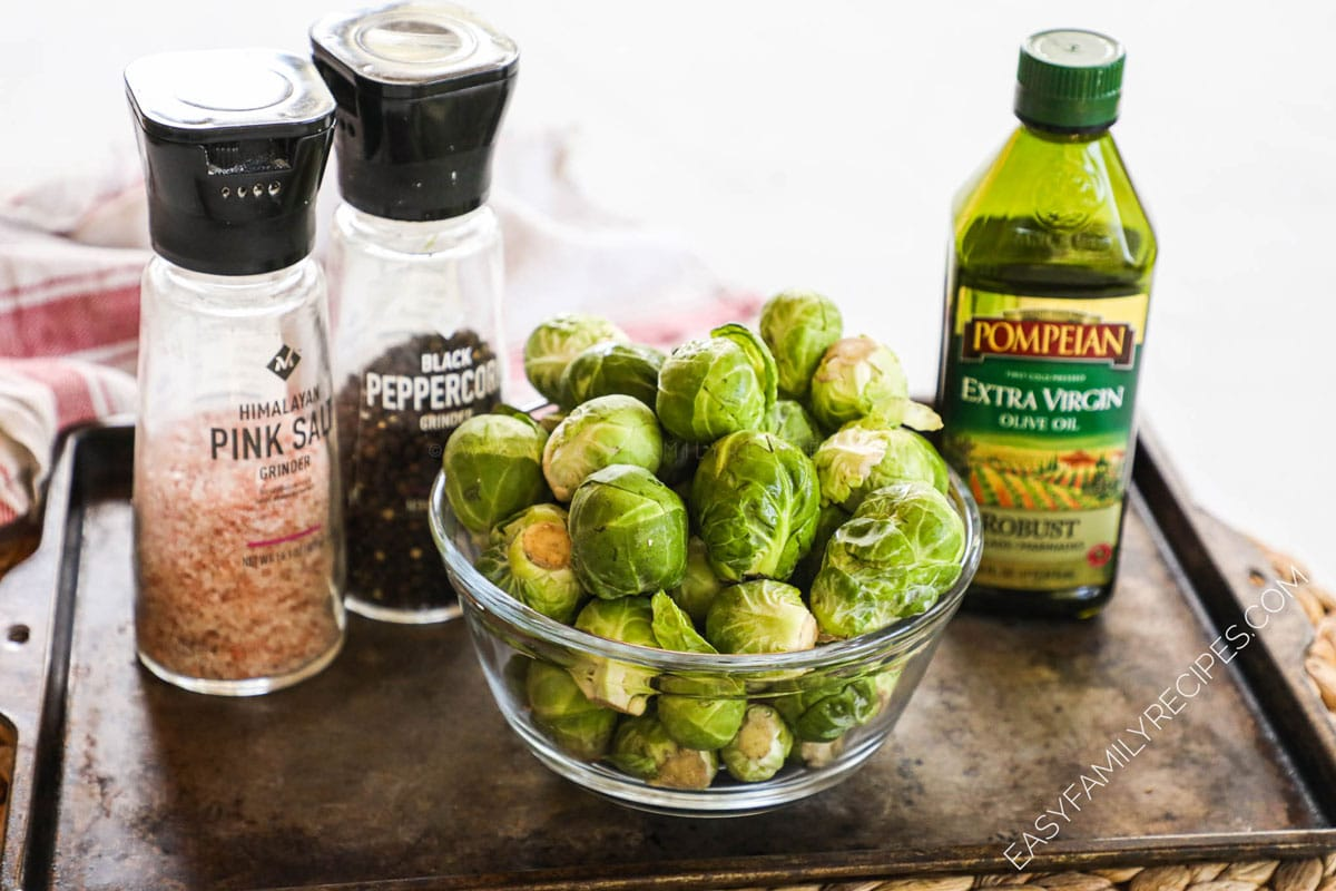Ingredients for Oven Roasted Brussels Sprouts