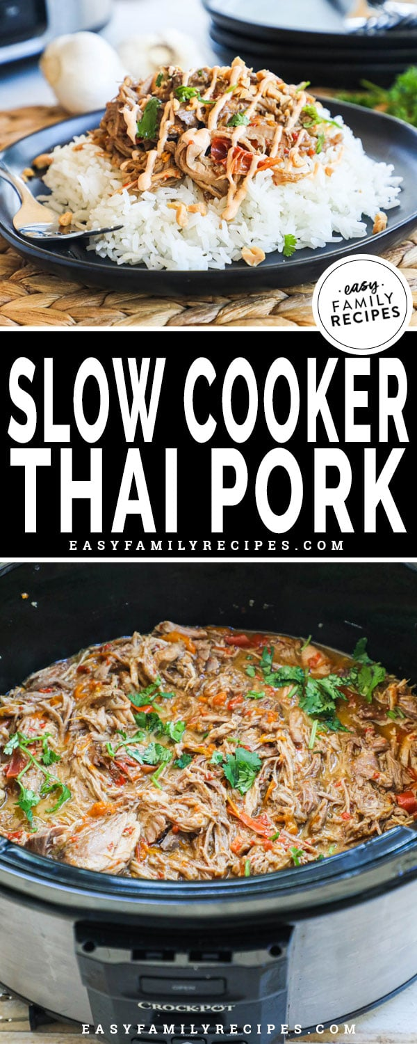 Thai Pork in the crockpot and served over rice