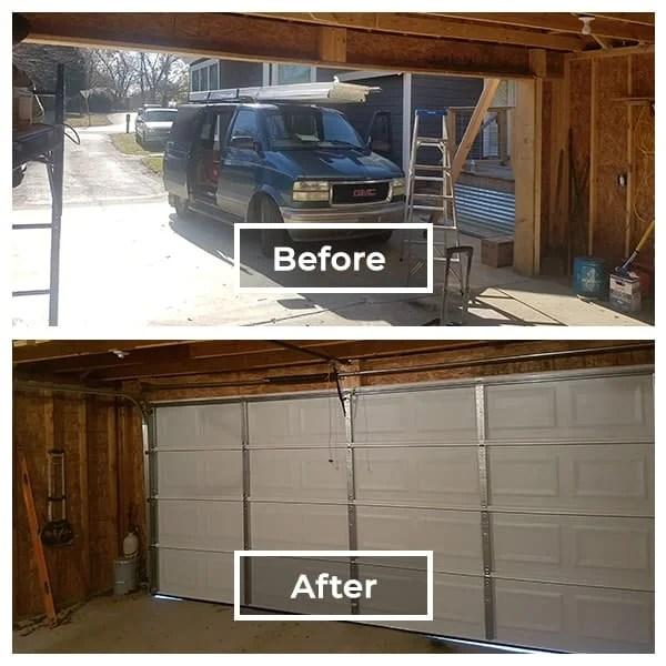 rustic garage door upgrade to a modern garage door