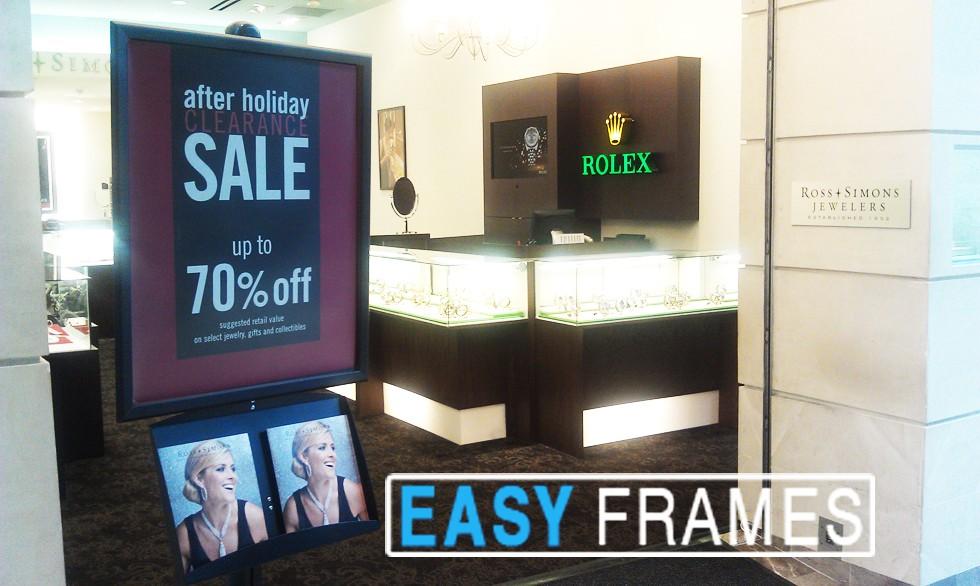 Black Sign Frames, Aluminum Frames, Poster Frames, Flip up Frame, Snap Frame