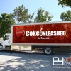 24ft Insulation Box Truck Flip up Aluminum Banner Grip Frame - Coca Cola Ad_sm