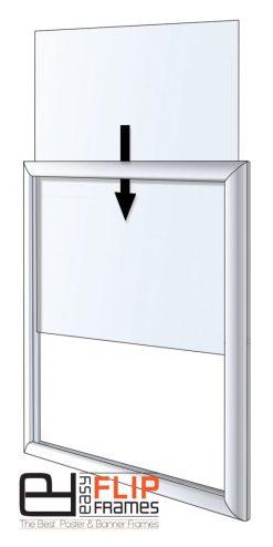 Aluminum Side Load Frame, Slide in Sign Frame, Easy Poster Slide In Frame