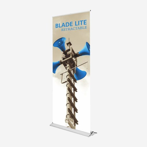 blade lite, banner stand, standing banner, banner display, vertical banner stand