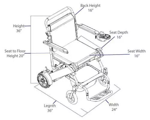 wheel chair dimensions ikea high cover standard model easyfold the fold able electric wheelchair of portable power