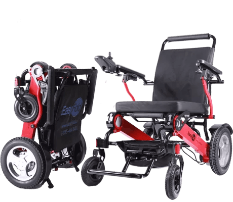 portable wheel chair chrome dining chairs nz easyfold canada the fold able power wheelchair s best that truly