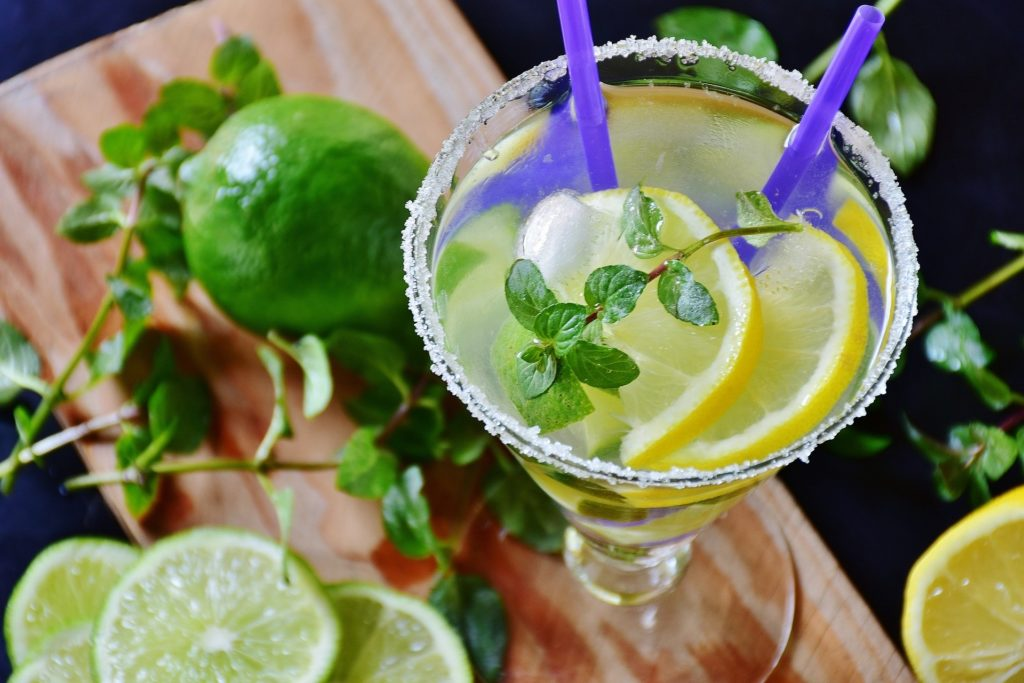 vodka with mint