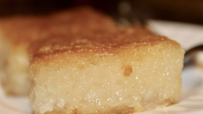 cassava cake piece