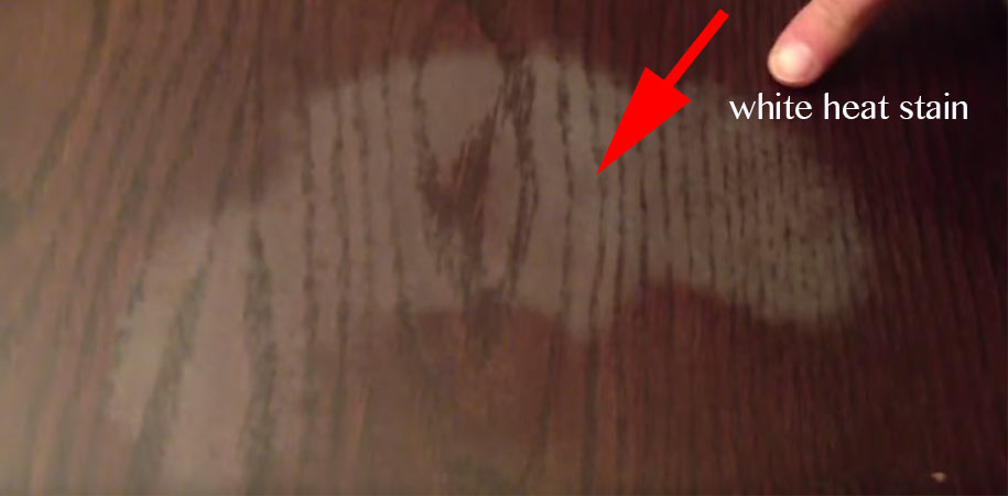 How to Remove White Heat Stains from Wood Furniture  Easy Life Hacks