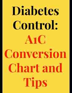 Diabetes control   conversion chart  tips also easyhealth living rh easyhealthllc