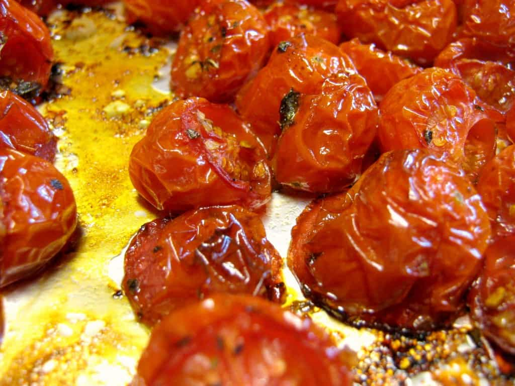 Balsamic and herb roasted tomato recipe