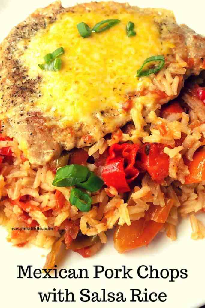 mexican pork chops and salsa rice