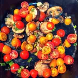 sautéed mushrooms, onions, and tomatoes