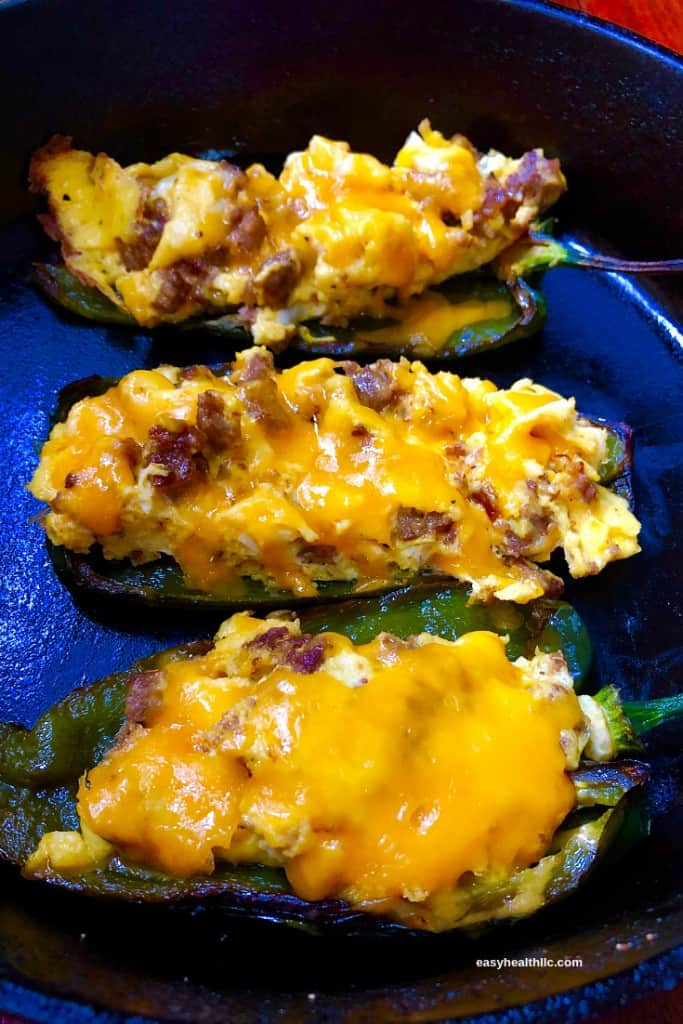 Low Carb Sausage-Stuffed Poblanos
