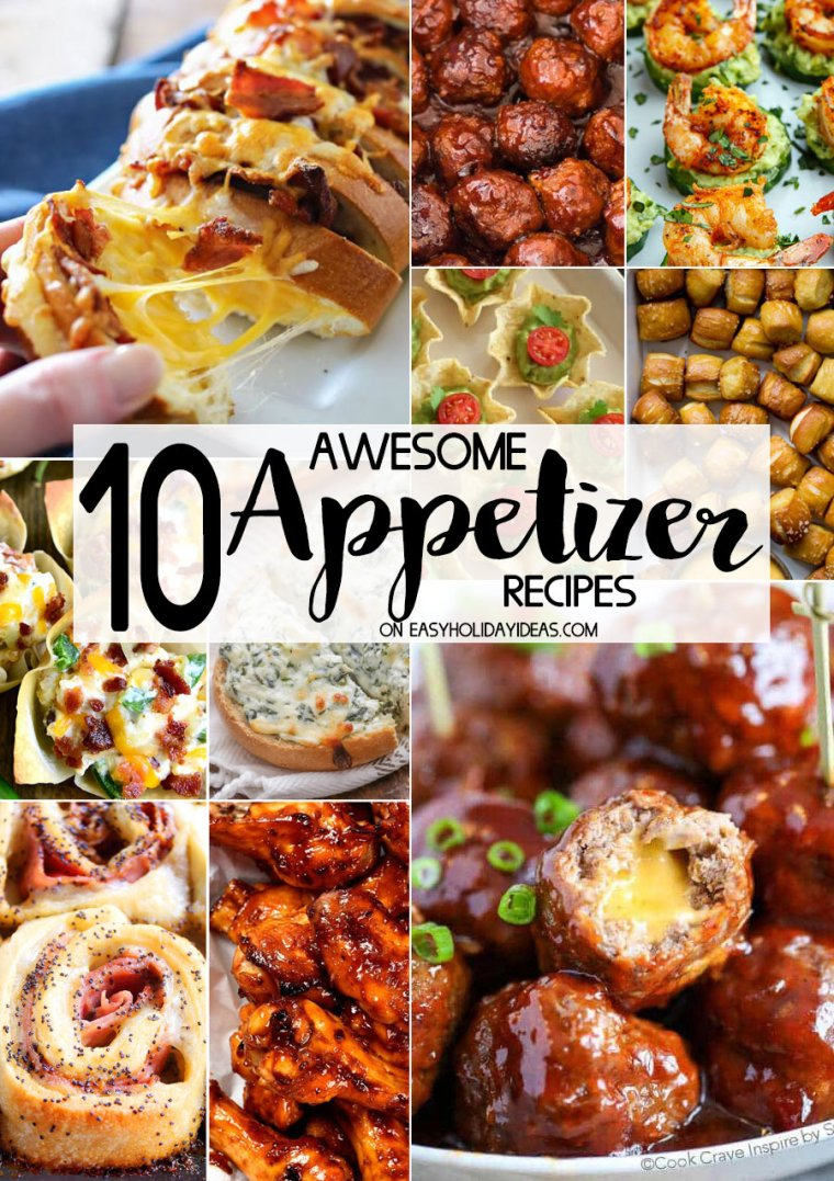 Awesome Appetizer Recipes for parties