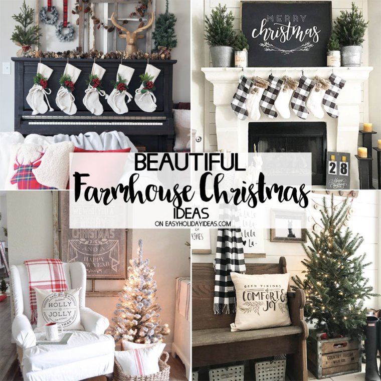 Beautiful Farmhouse Christmas Ideas
