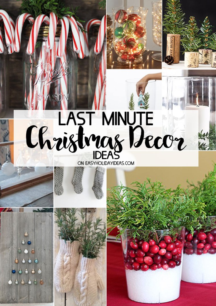 Last Minute Christmas Decor