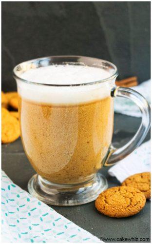 Homemade gingerbread latte
