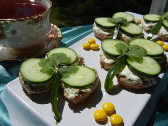 Shamrock Tea Sandwiches