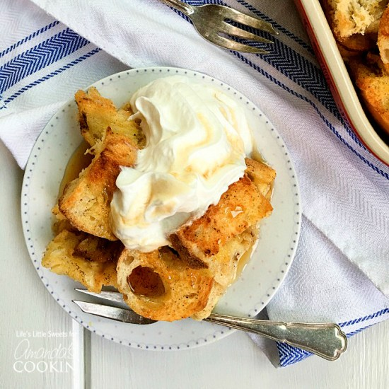 French Toast Casserole is made with 2 crusty French baguette loaves, and has all the delicious flavor and spices of classic French toast just in casserole form to feed a crowd!  Assemble this baked dish the night before and toss it in the oven in the morning for a delicious breakfast!