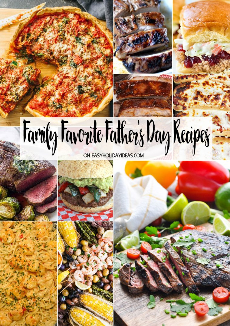 Family Recipes for Father's Day