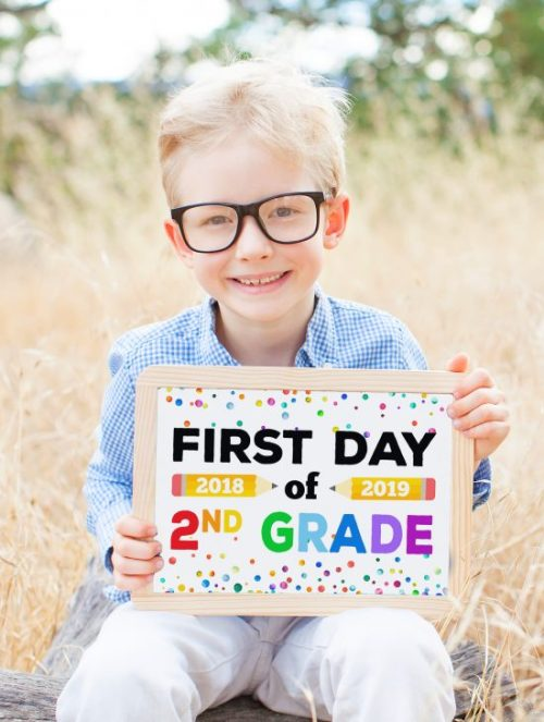 You can print these back to school signs right before the kids head off to school and still manage to snap a few precious First Day of School pictures for posterity.