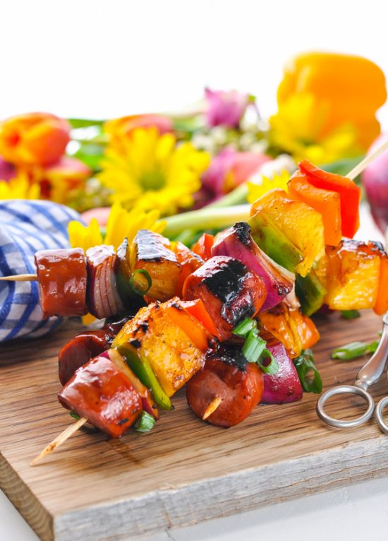 Savor every moment of your summer with an easy dinner recipe that's perfect for the season! From get-togethers with friends to pool parties, camping trips, and family cookouts, these Hawaiian Kielbasa Kabobs are a fresh and simple option that suits any occasion!