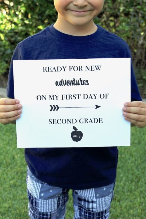 No matter what grade your kids are starting, these printable signs will cover all your first day of school photo needs!