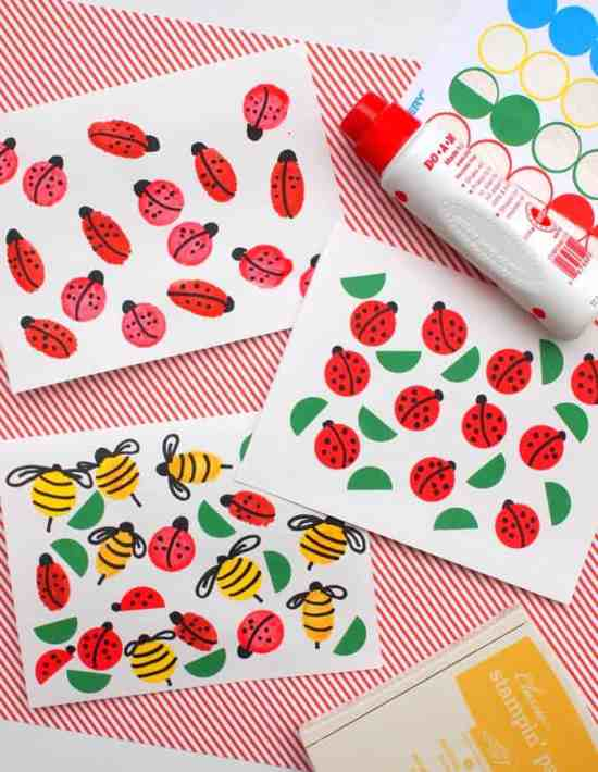 Got a bug lover in your life? Well then these Bug Cards will be a perfect summer craft!