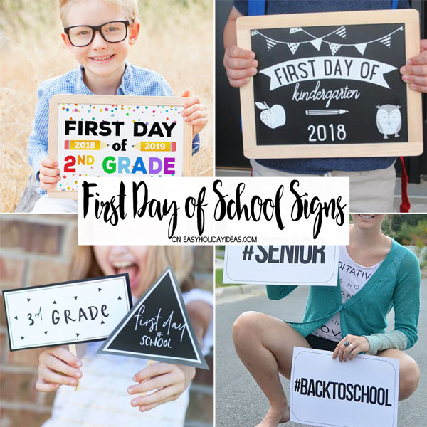 Featured Image First Day Signs