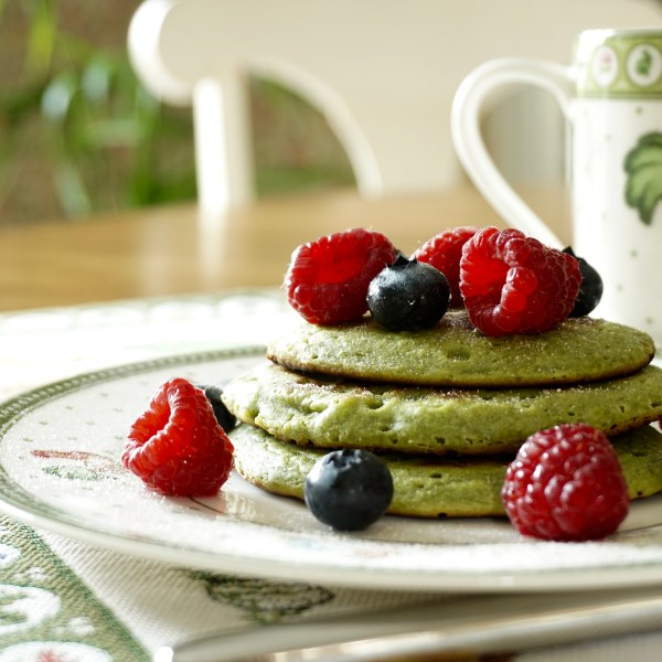 Green Shrek pancakes