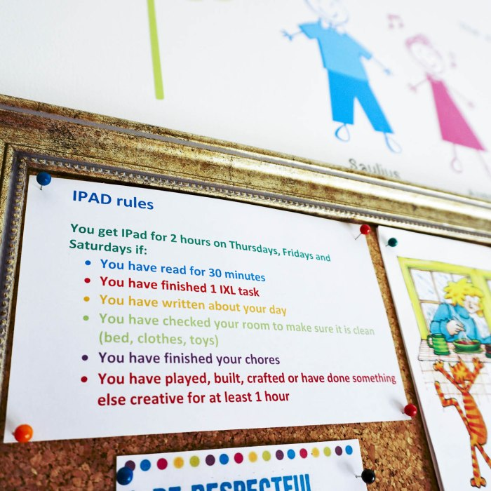 IPad rules for kids