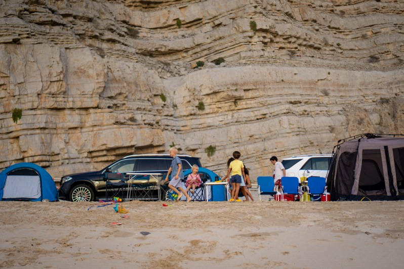 Wild beach camping in Oman - camping site