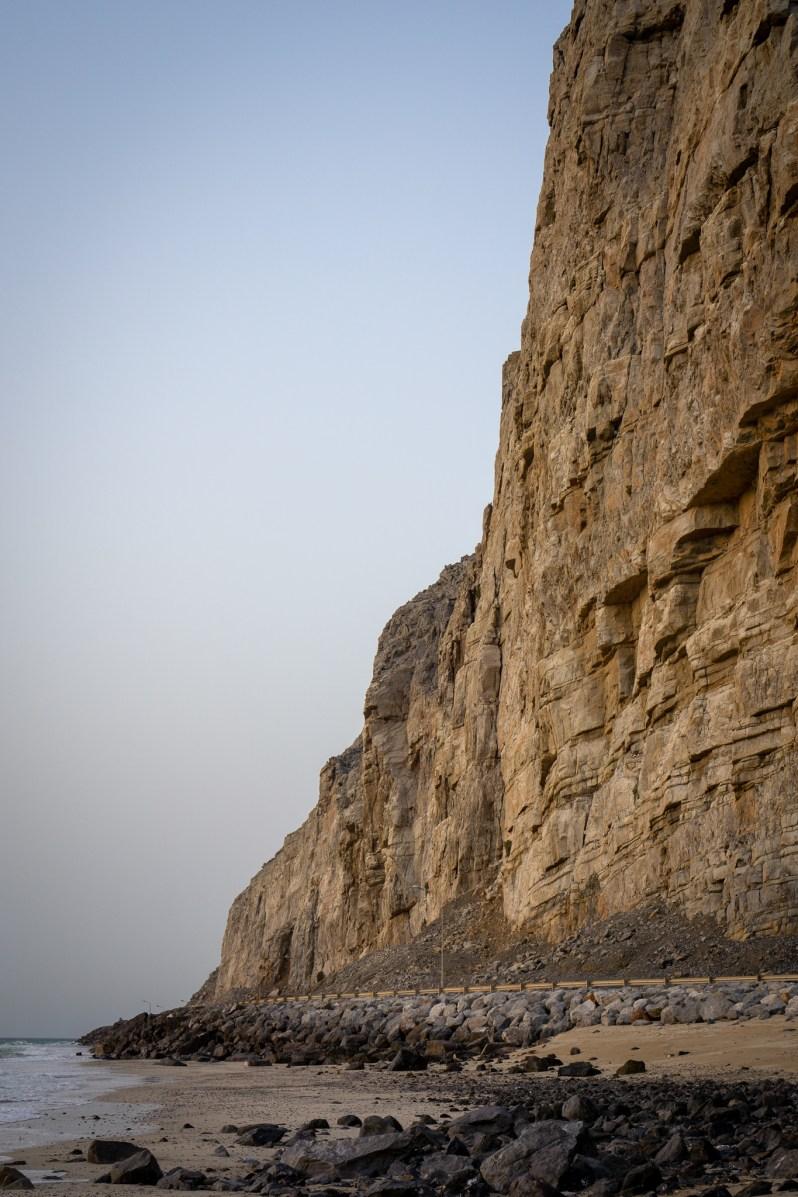 Wild beach camping in Oman - rocky mountains.jpg