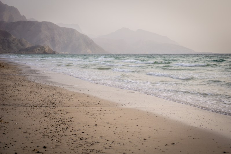 Wild beach in Oman