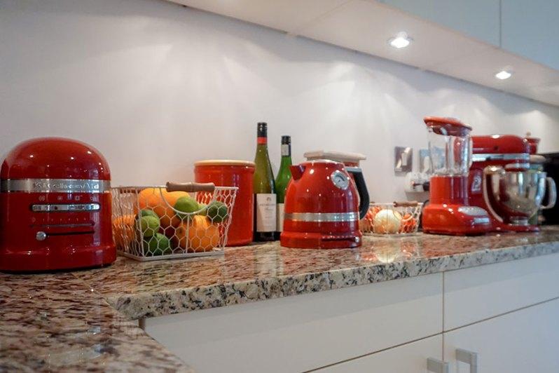 KitchenAid mixer, kettle, blender, toaster