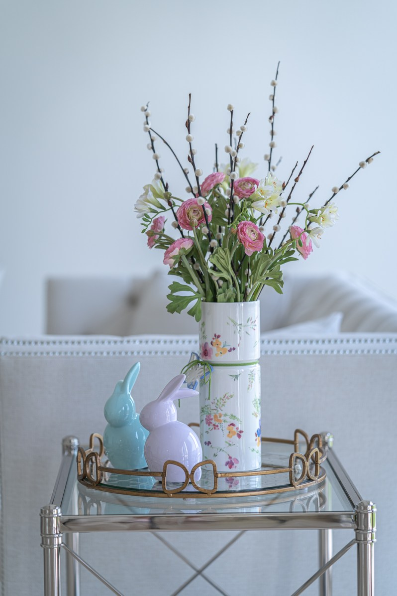 Home decorating for spring with flowers