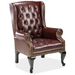 Traditional Leather Wingback Chair Dining Covers Buy Online India Chairs Easy Home Concepts Lorell Queen Anne Side 29 By 30 39 1 2