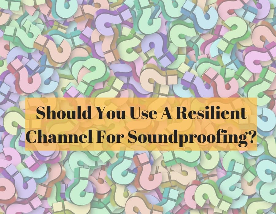 Resilient channel soundproofing