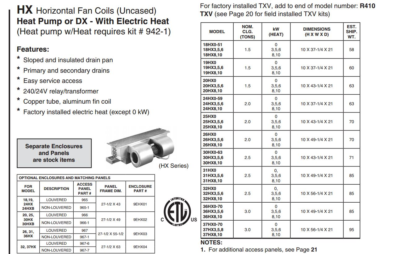 First Company 30hx0 Air Handler Easy Hvac Products