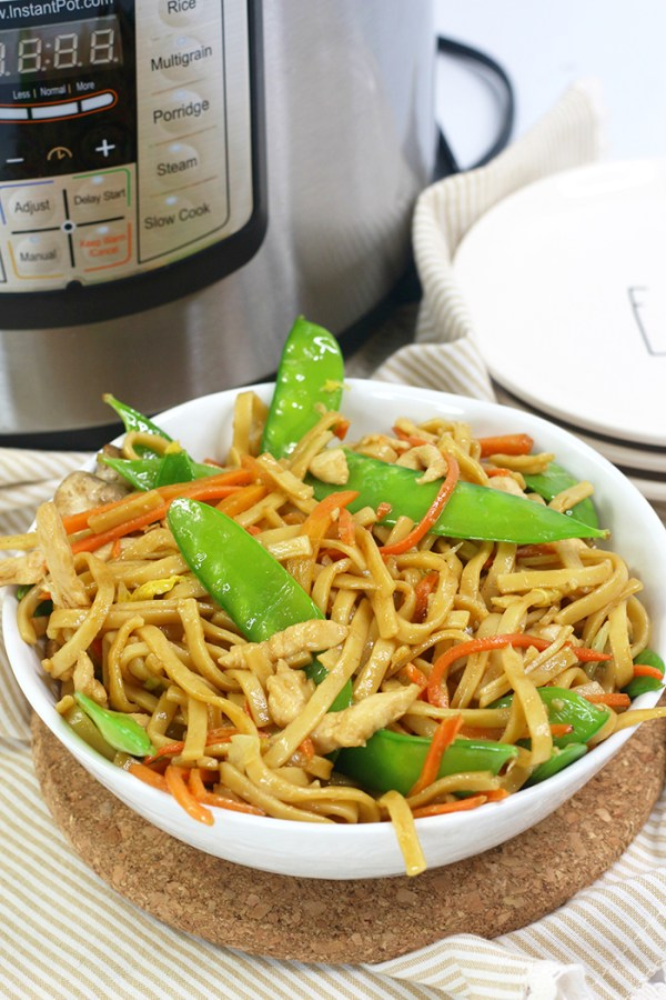 lo mein in the instant pot
