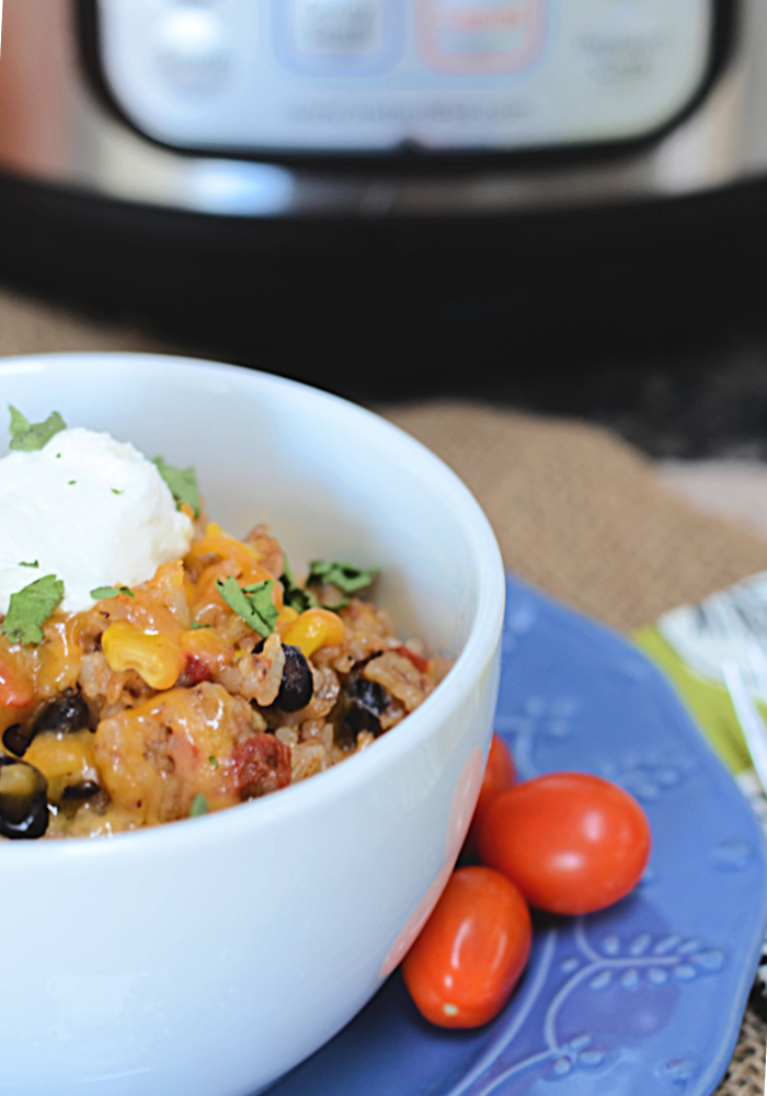 """Featured image for """"Instant Pot Chicken Burrito Bowls"""""""