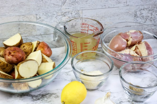 Instant pot chicken and potato ingredients