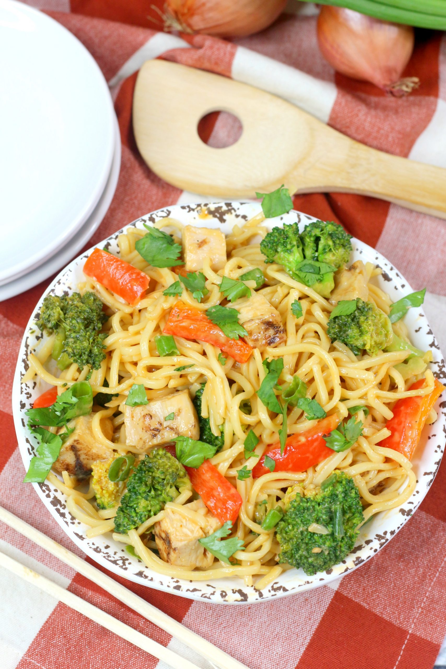 """Featured image for """"Instant Pot Lo Mein Spicy Thai"""""""