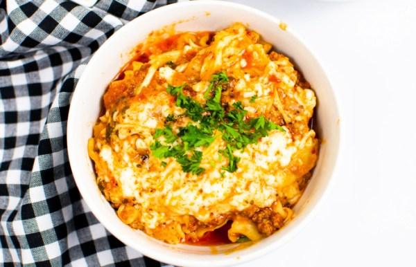 Instant pot lazy lasagna recipe
