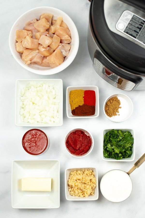 instant pot butter chicken ingredients