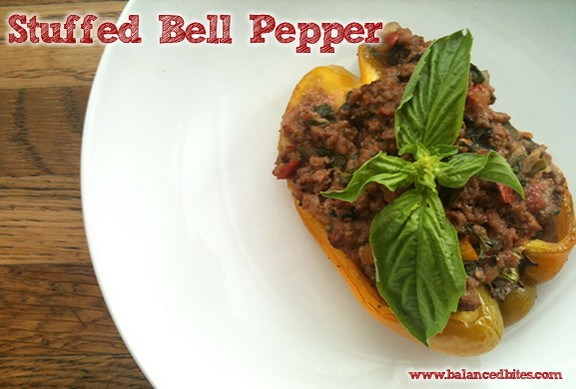 Italian Style Stuffed Bell Peppers recipe photo