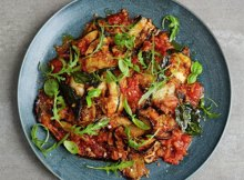 Italian aubergine parmigiana with crispy breadcrumbs recipe