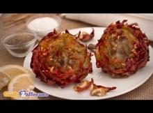 Artichokes Jewish-style (carciofi alla giudia) - Italian recipe (VIDEO)